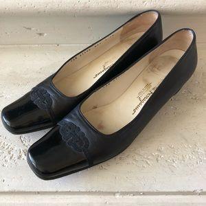 Ferragamo ~ Vintage Black Loafers